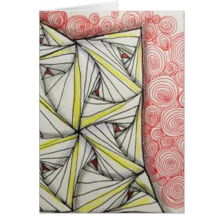 Tarjeta de felicitación brillante en blanco 5x7 -