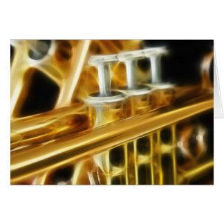 Tarjeta de felicitación caliente de la trompeta