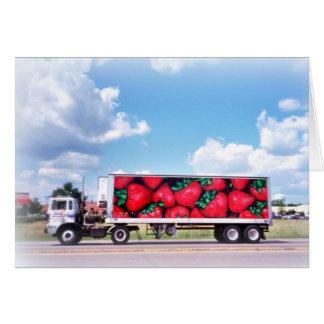Tarjeta de felicitación: Camión de la fresa