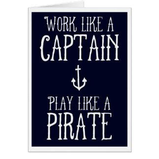 Tarjeta de felicitación - capitán/pirata