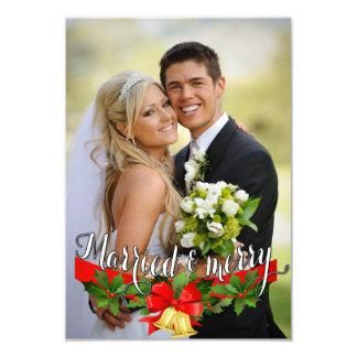 Tarjeta de felicitación casada y feliz invitación 8,9 x 12,7 cm