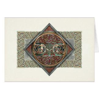 Tarjeta de felicitación céltica de Gryphons del