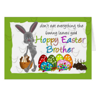 Tarjeta de felicitación chistosa de Pascua de la d