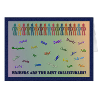 Tarjeta de felicitación cobrable de los amigos