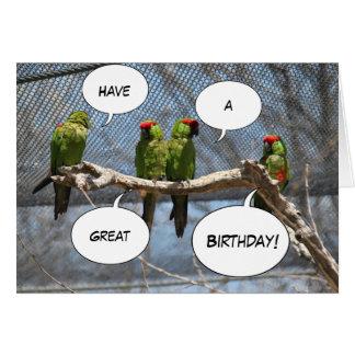 Tarjeta de felicitación colorida de los pájaros