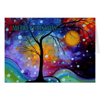 Tarjeta de felicitación colorida del arte de las