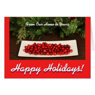Tarjeta Tarjeta de felicitación con las bayas del navidad