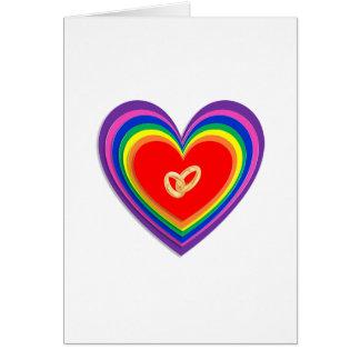 Tarjeta de felicitación con los corazones y 2