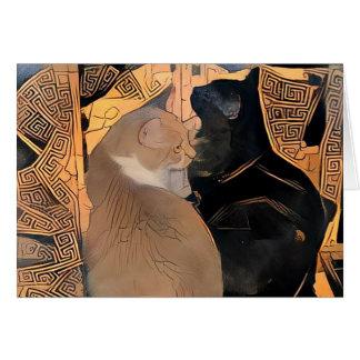 Tarjeta de felicitación con los gatos, diseño