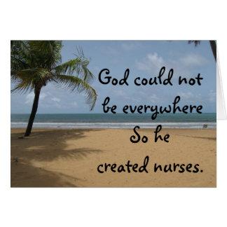 Tarjeta de felicitación cristiana de la enfermera