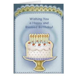Tarjeta de felicitación cristiana del cumpleaños
