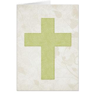 Tarjeta de felicitación cristiana en blanco de la