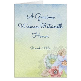 Tarjeta de felicitación cristiana para la madre,