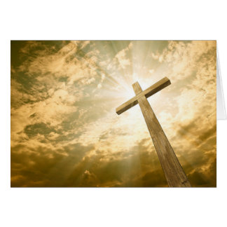 Tarjeta de felicitación cruzada religiosa