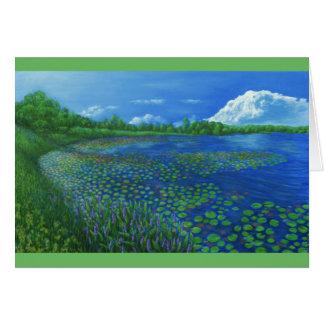 Tarjeta de felicitación de Artemesia del lago