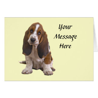 Tarjeta de felicitación de Basset Hound