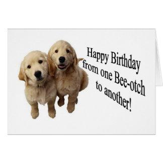 Tarjeta de felicitación de Beeotch del feliz cumpl