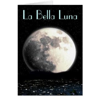 Tarjeta de felicitación de Bella Luna del La