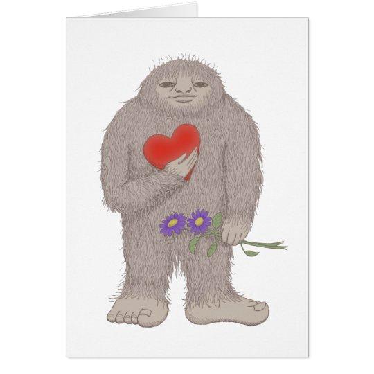 Tarjeta de felicitación de Bigfoot Sasquatch Yeti