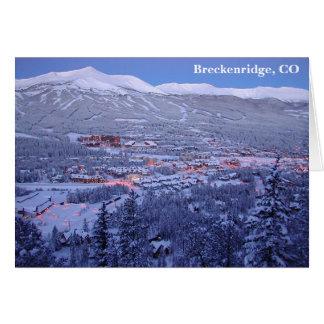 Tarjeta de felicitación de Breckenridge, Colorado