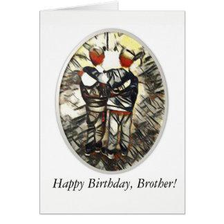 Tarjeta de felicitación de Brother del feliz