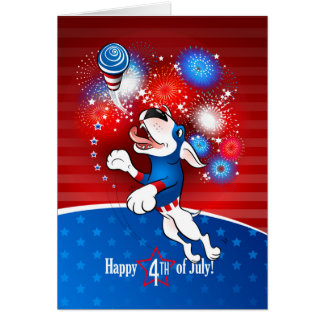 "Tarjeta de felicitación de bull terrier ""feliz el"
