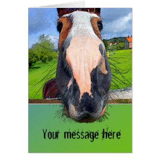 Tarjeta de felicitación de caballo adaptable
