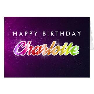 Tarjeta de felicitación de Charlotte del feliz