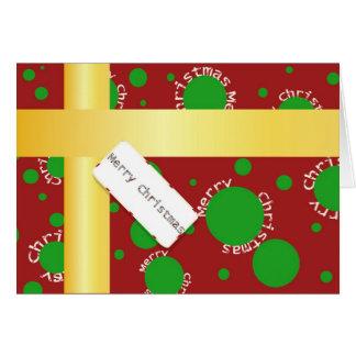 Tarjeta de felicitación de Christmaspackage
