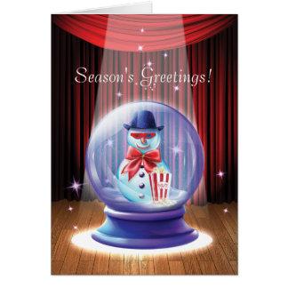 Tarjeta de felicitación de cristal de la fantasía