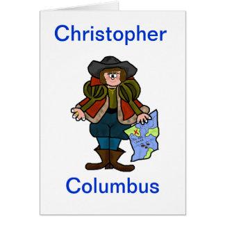 Tarjeta de felicitación de Cristóbal Colón -