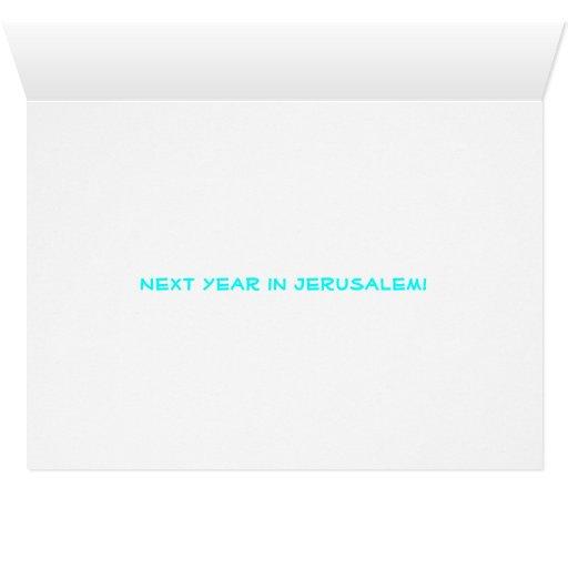 "Tarjeta de felicitación de ""Dayenu"" Jerusalén Pesa"