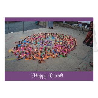 Tarjeta de felicitación de Diwali