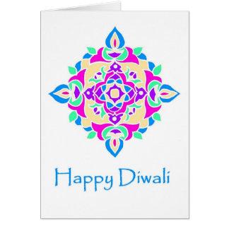 Tarjeta Tarjeta de felicitación de Diwali con el modelo de