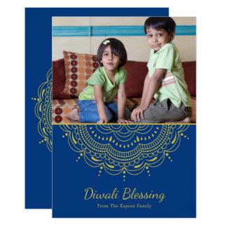 Tarjeta de felicitación de Diwali de la mandala -