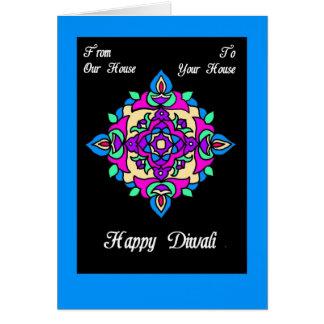 Tarjeta Tarjeta de felicitación de Diwali de nuestra casa