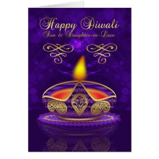 Tarjeta de felicitación de Diwali del hijo y de la