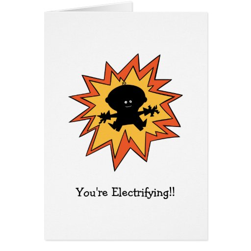 Tarjeta de felicitación de electrificación de la t