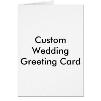 Tarjeta de felicitación de encargo del boda