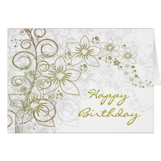 Tarjeta de felicitación de encargo diseñada floral