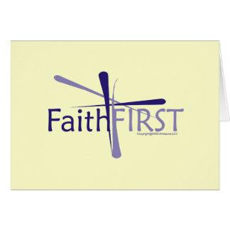 Tarjeta de felicitación de FaithFIRST