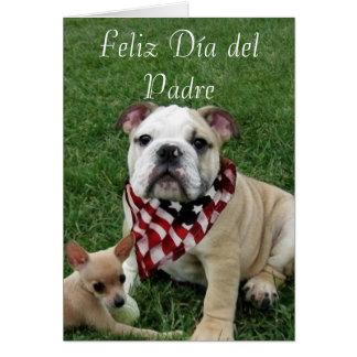 Tarjeta de felicitación de Feliz Dia del Padre Bul