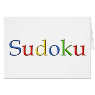 Tarjeta de felicitación de Google Sudoku