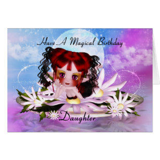 Tarjeta de felicitación de hadas mágica del cumple