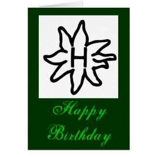 Tarjeta de felicitación de Haflinger - feliz cumpl