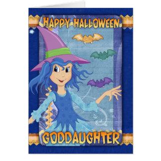 tarjeta de felicitación de Halloween de la ahijada