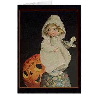 Tarjeta de felicitación de Halloween del fantasma
