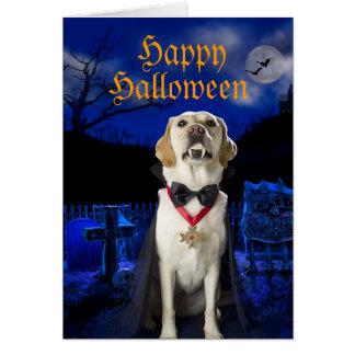 Tarjeta de felicitación de Halloween del perro de