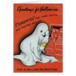 Tarjeta de felicitación de Halloween del vintage