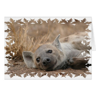 Tarjeta de felicitación de imagen del Hyena